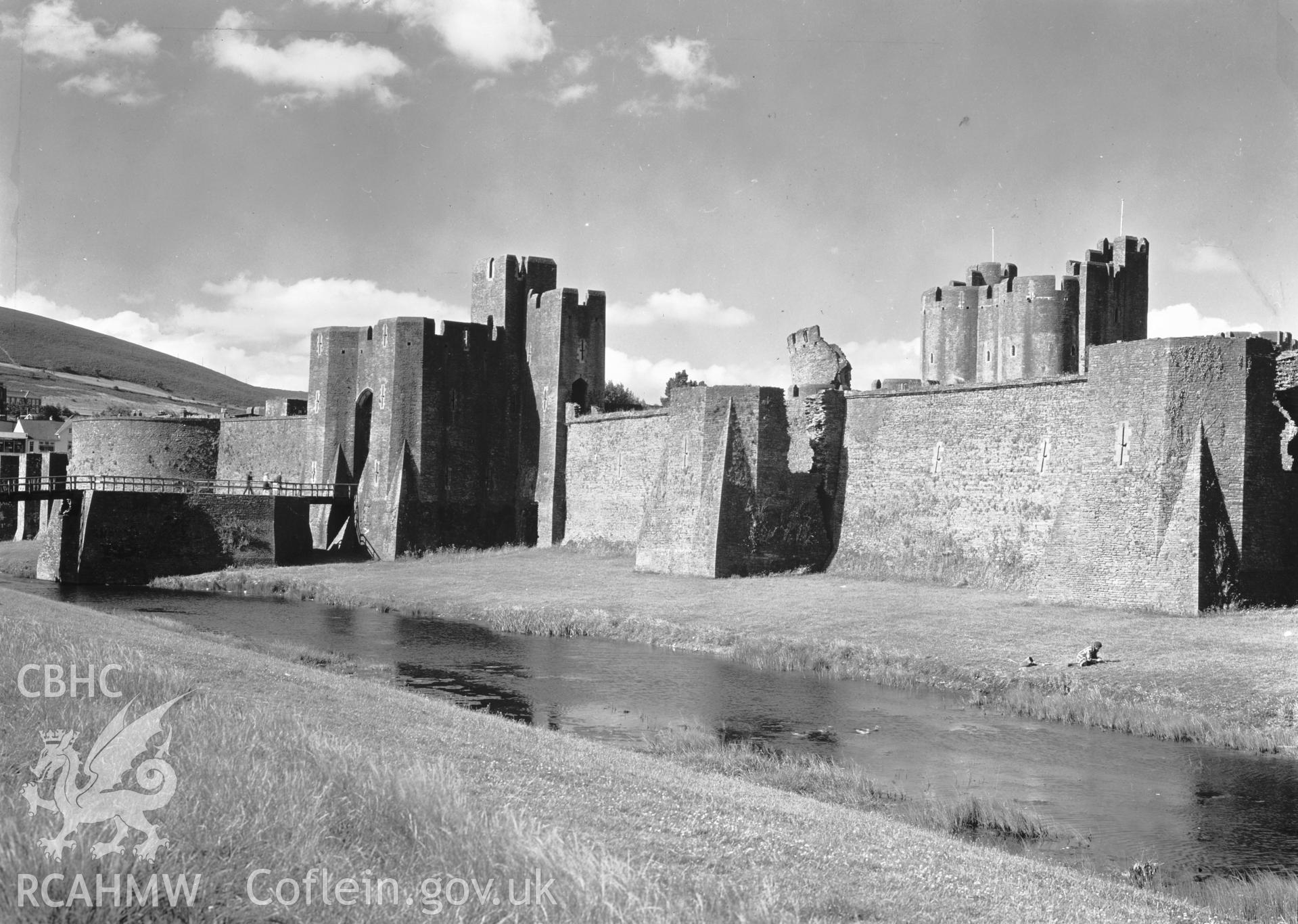 D.O.E photograph of Caerphilly Castle.