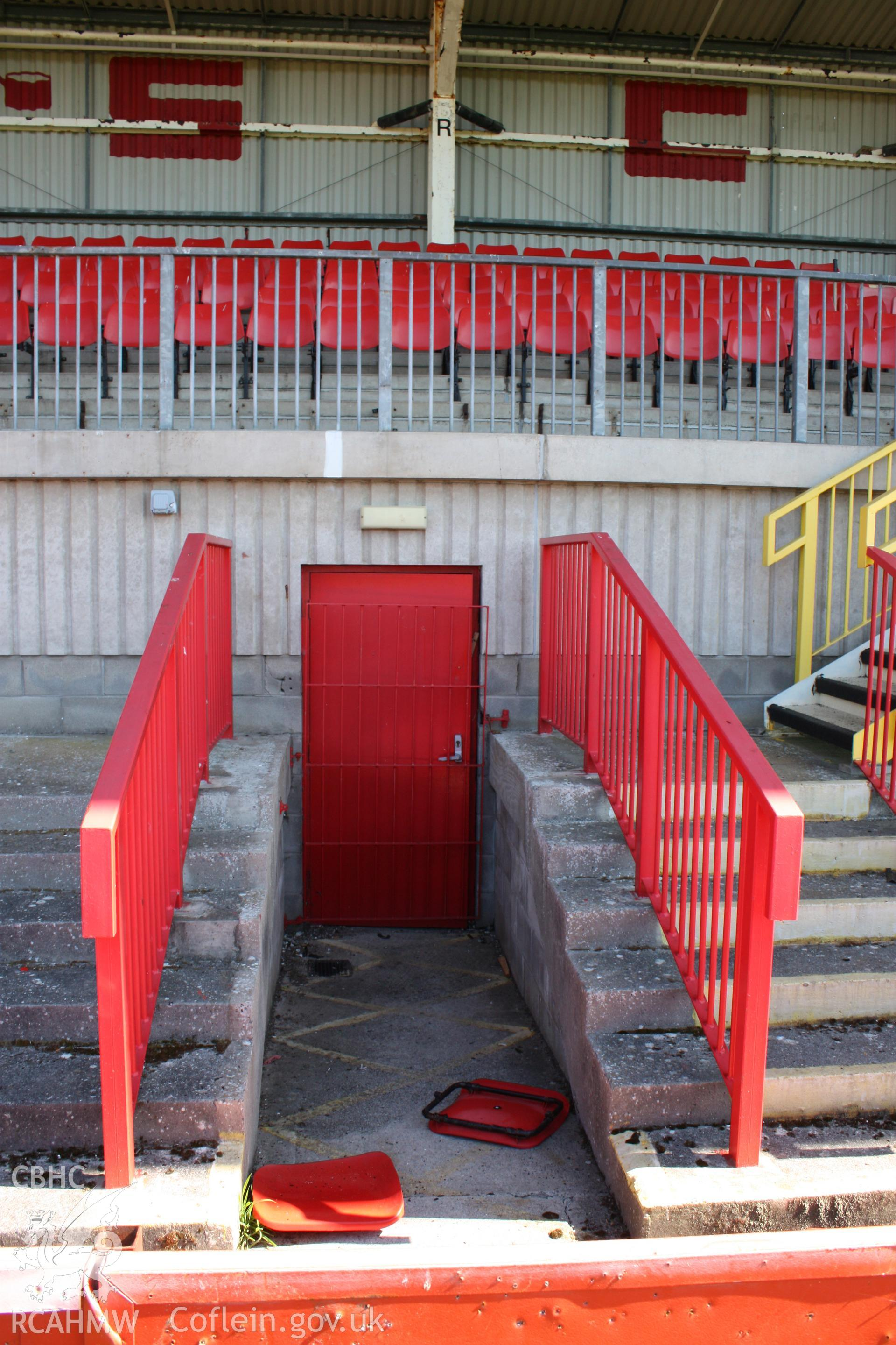 North Stand, central entrance