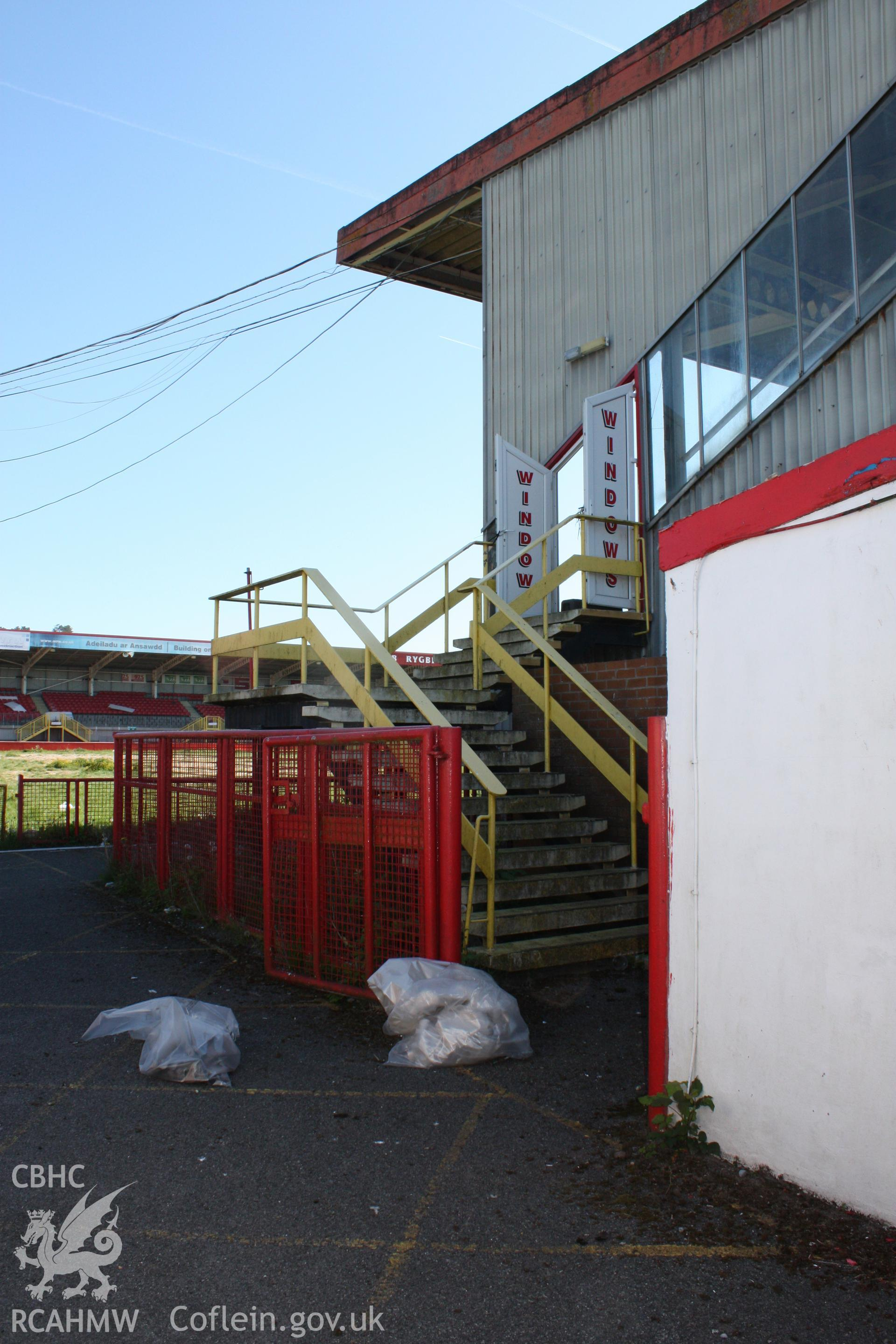 Stairs to upper levels at west end of Grand (South) Stand
