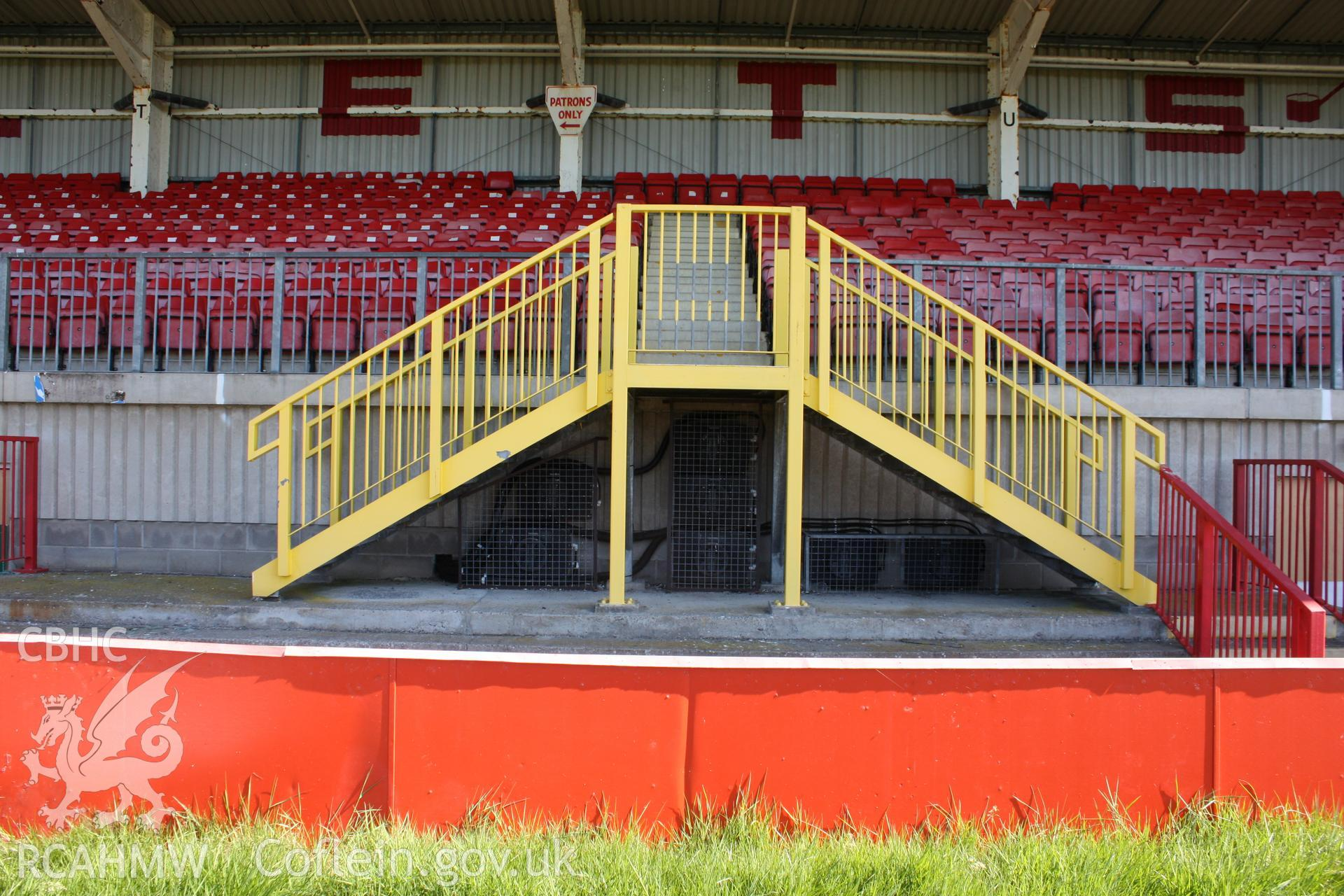 North stand, stairs to upper level