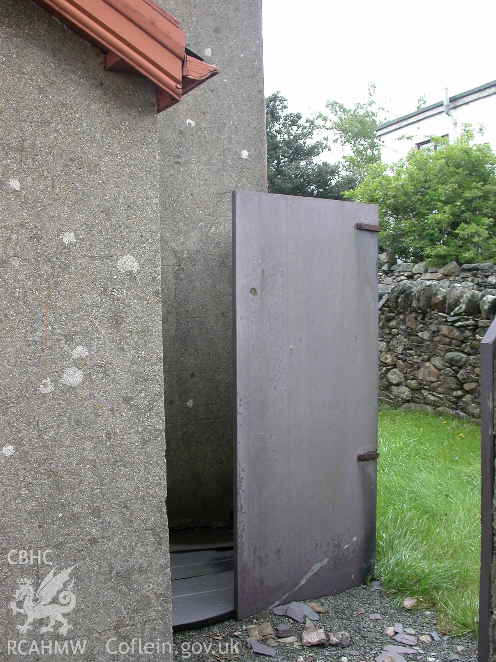 Exterior, slate door to the loo?