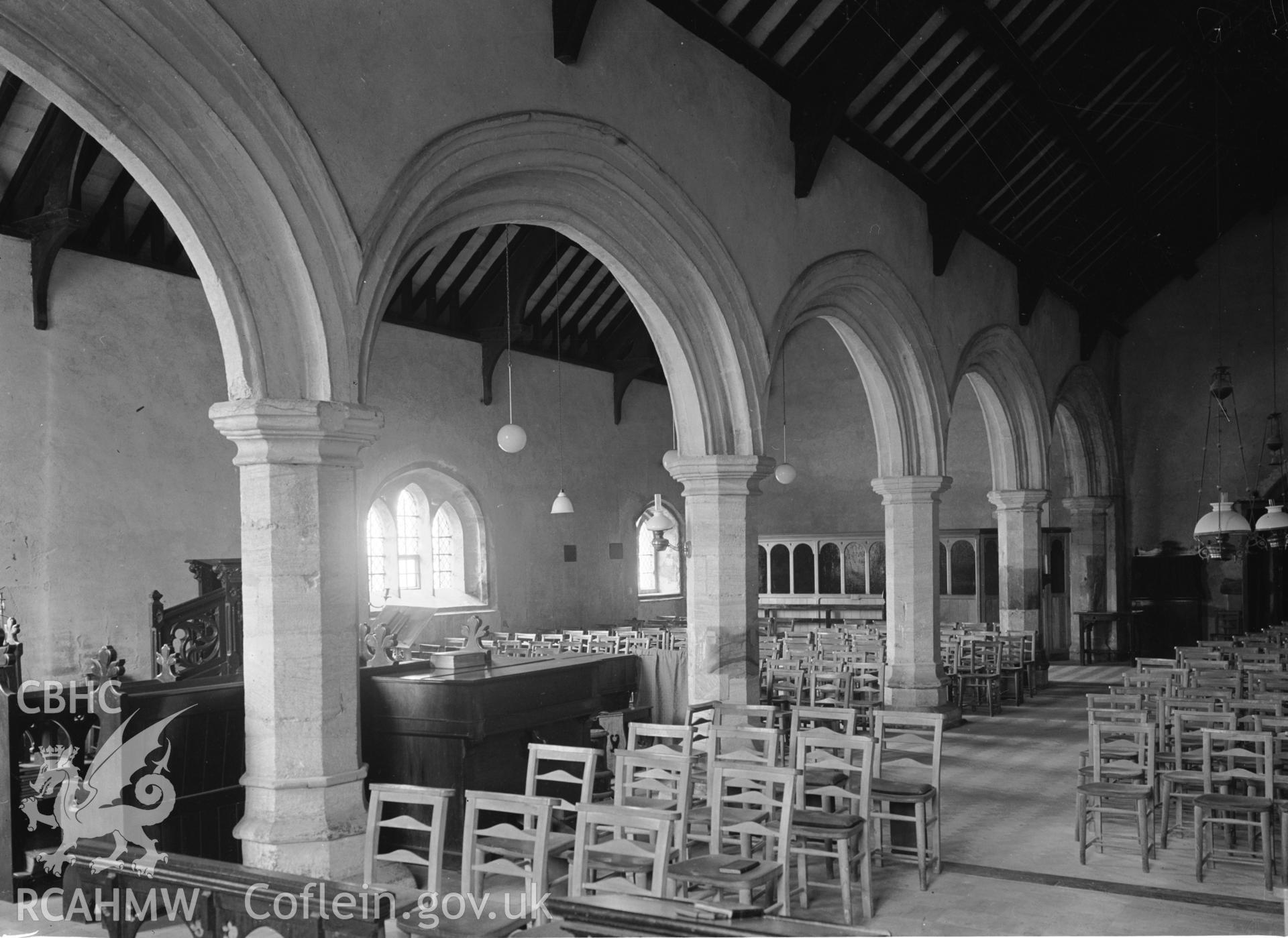 Interior view showing the arcade from the north-east.