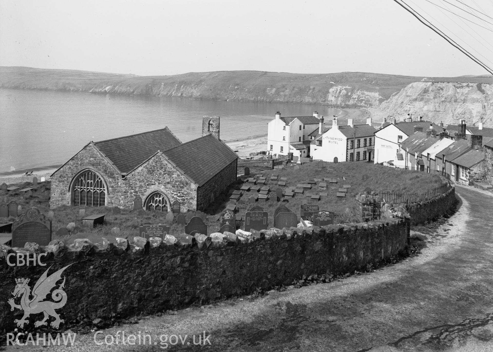 View of Aberdaron from the east.