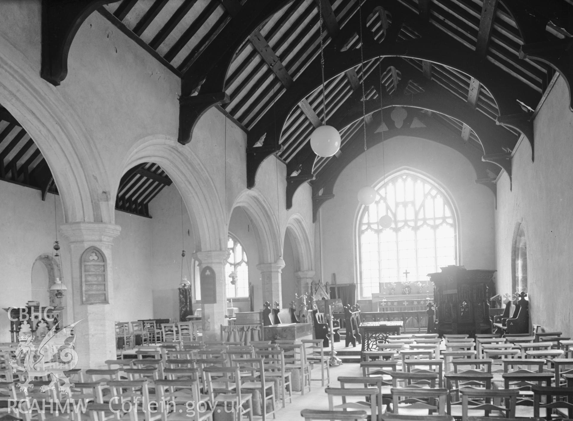 Interior view looking east in the south nave.