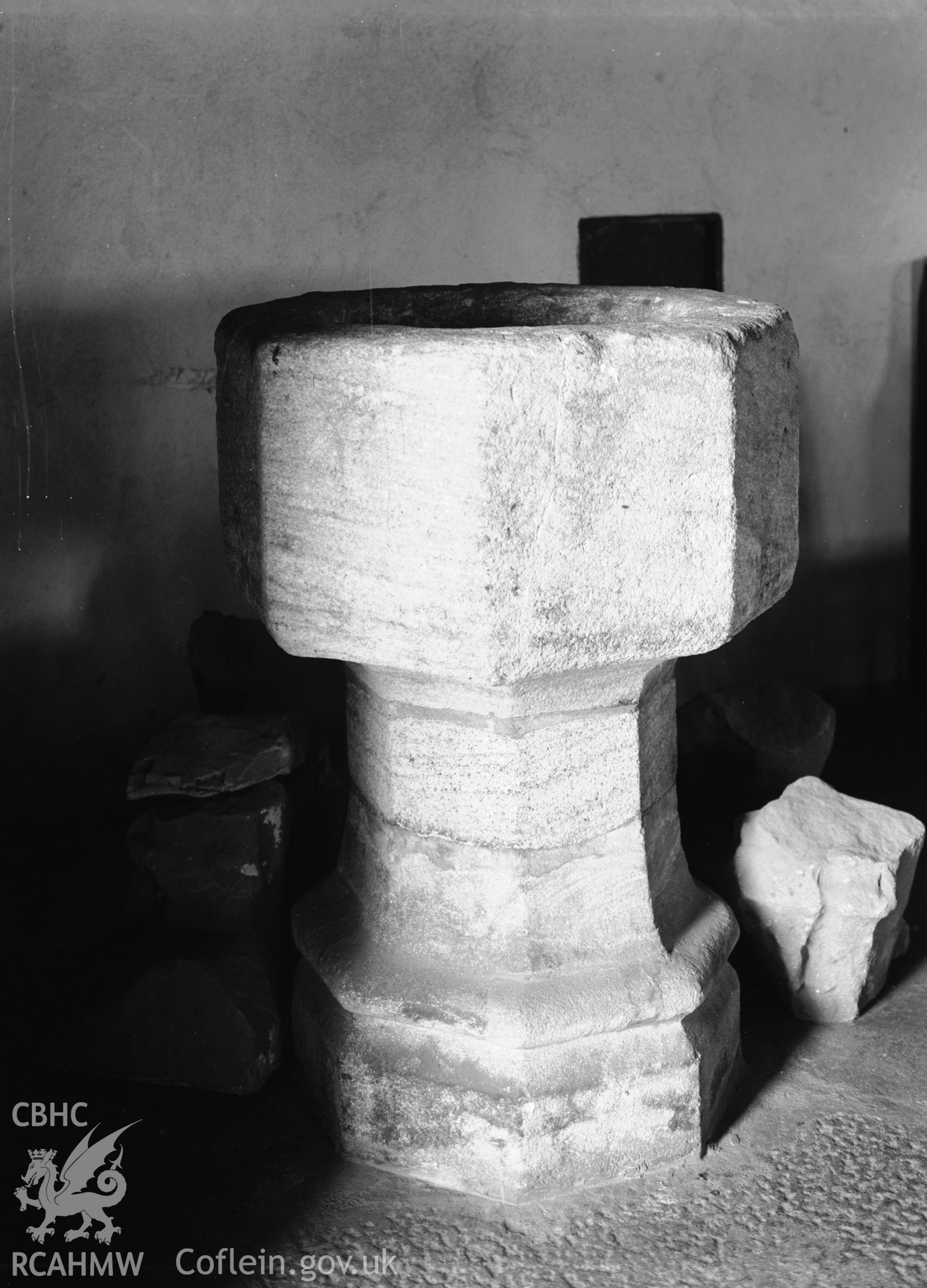 Interior view showing the font from the south-west.