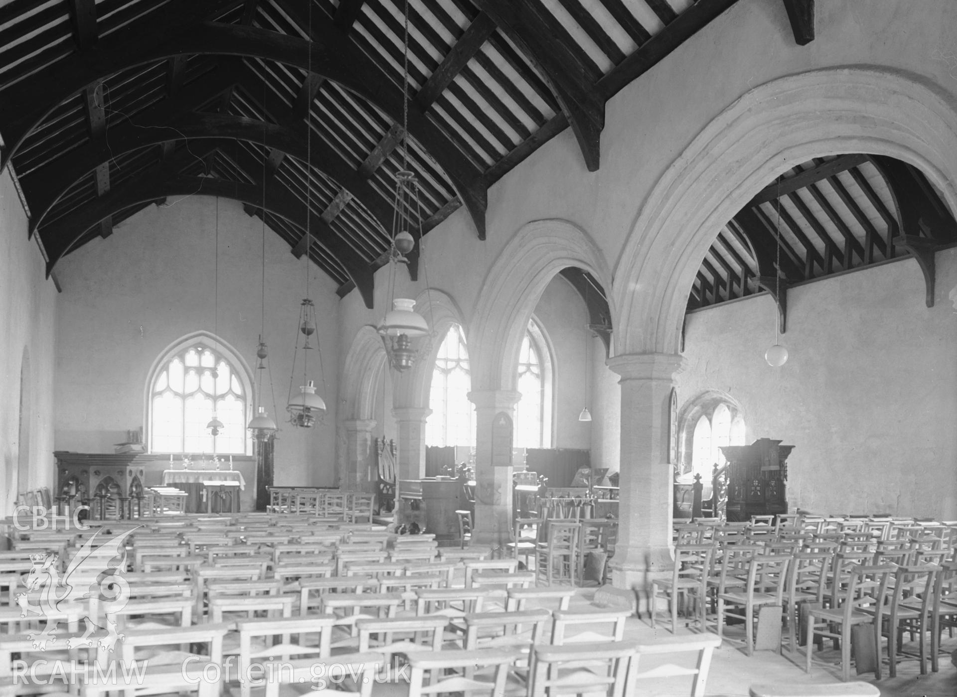 Interior view looking south-east from the north nave.