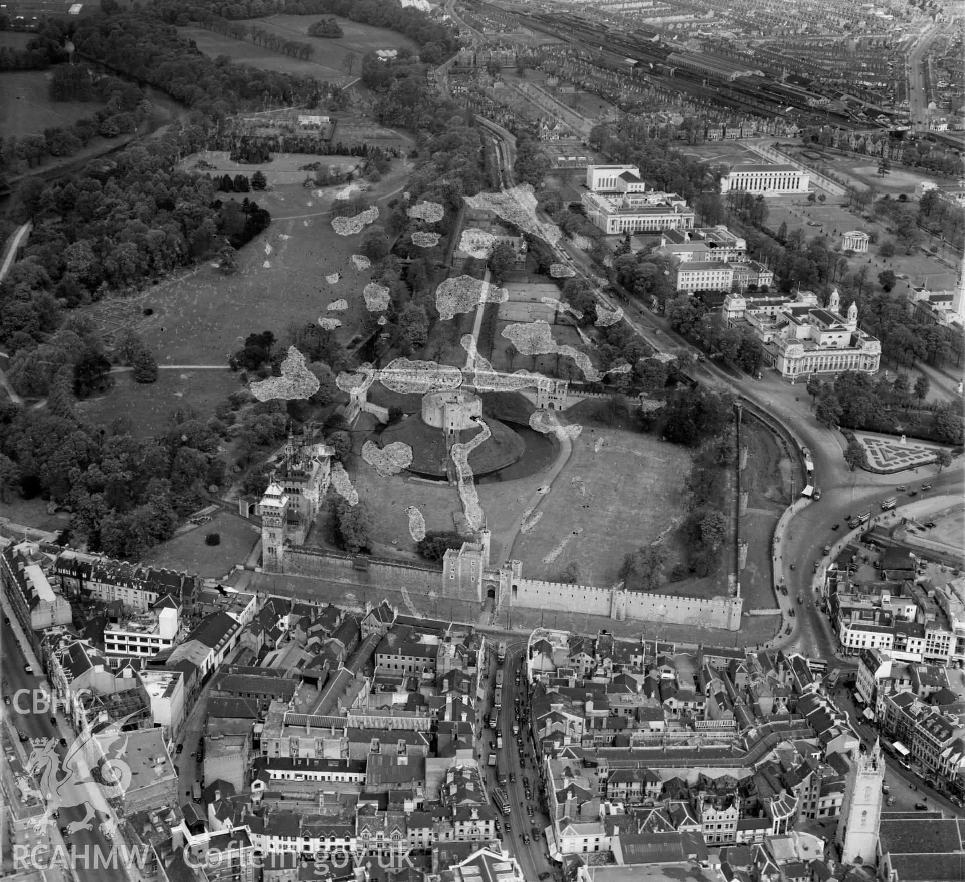 View of Cardiff showing the castle