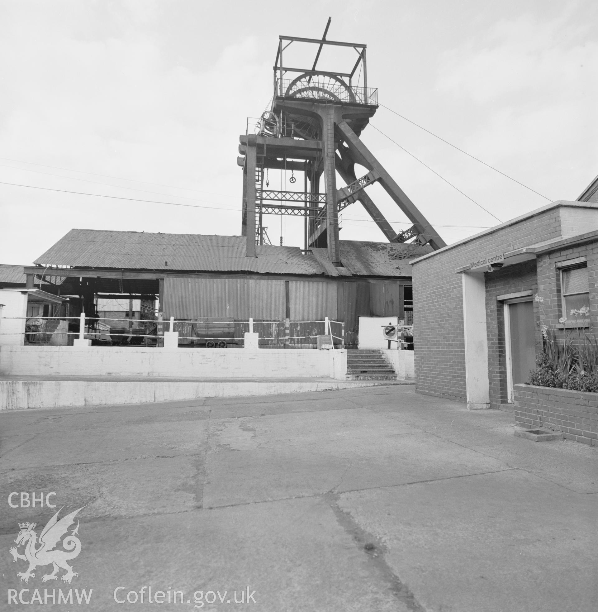 Digital copy of an acetate negative showing general view of Blaenserchan Colliery, from the John Cornwell Collection.