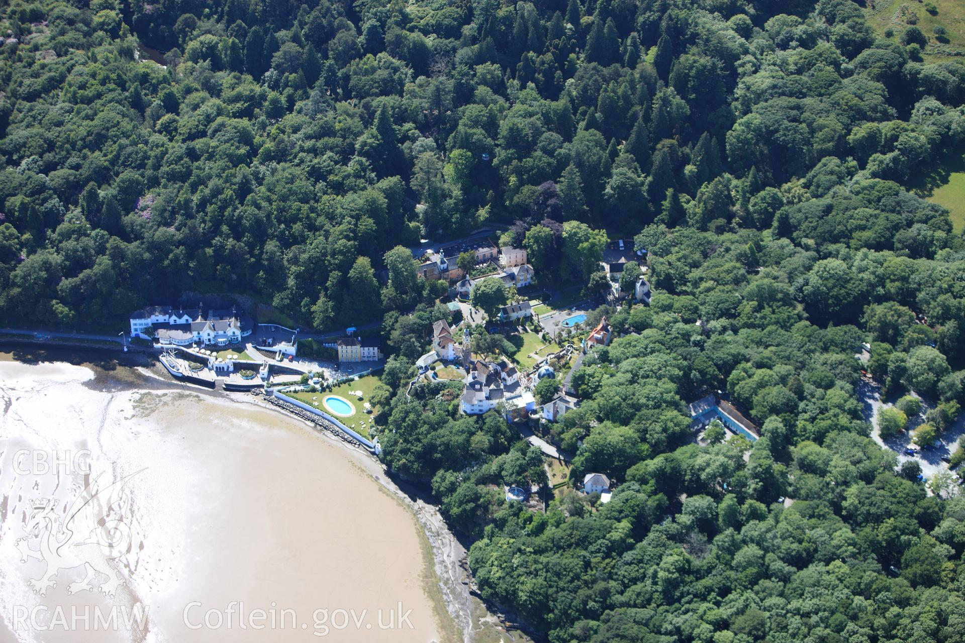 RCAHMW colour oblique photograph of Portmeirion. Taken by Toby Driver on 16/06/2010.