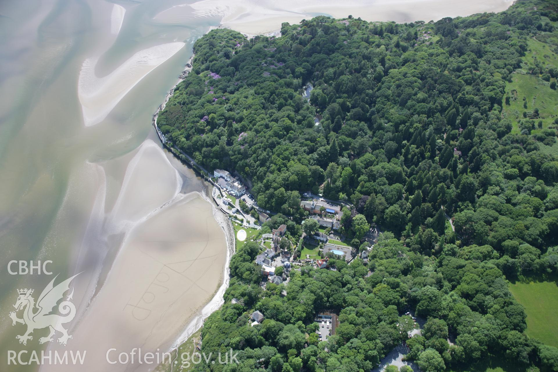 RCAHMW colour oblique aerial photograph of Portmeirion from the north-east. Taken on 14 June 2006 by Toby Driver.