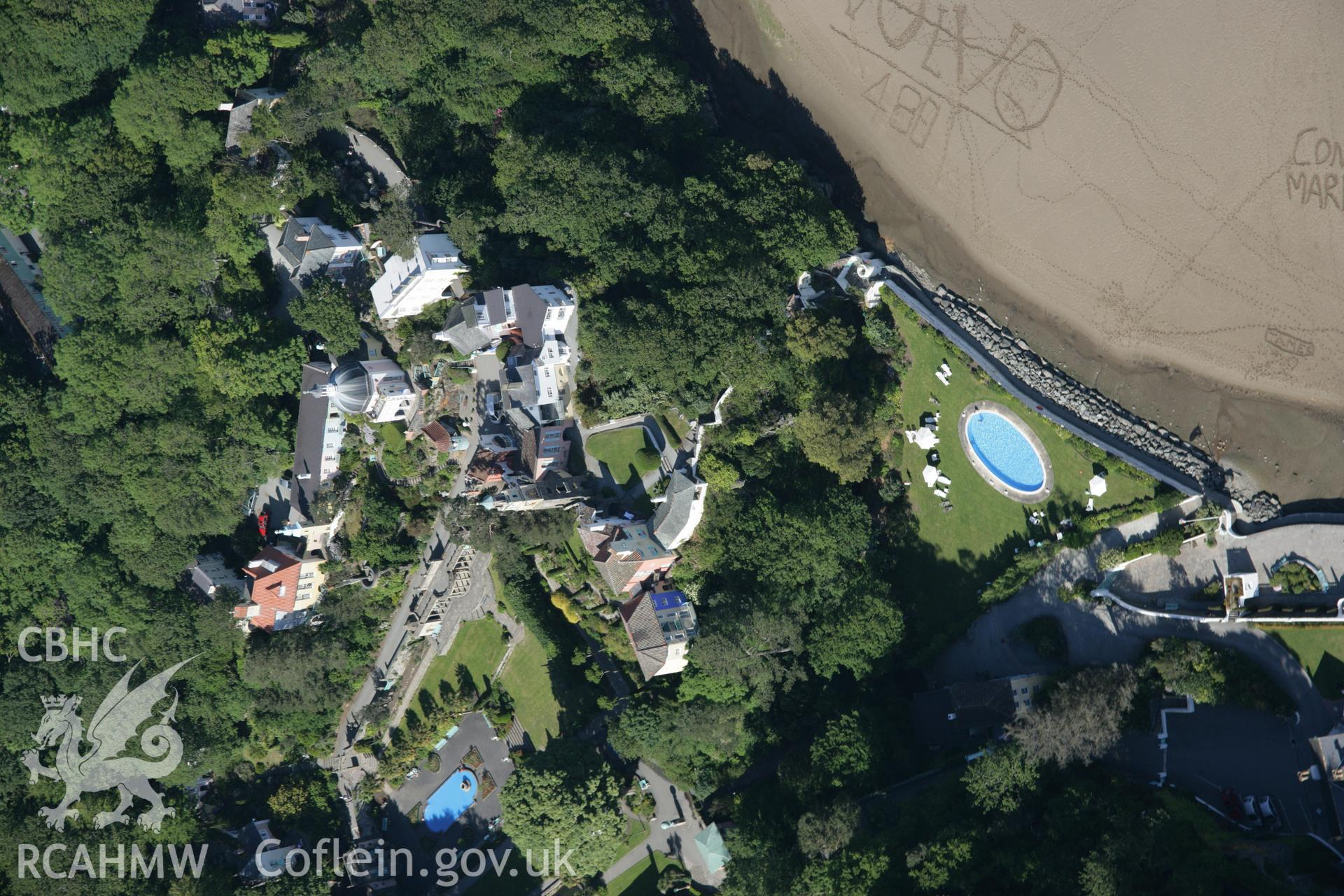RCAHMW digital colour oblique photograph of Portmeirion viewed from the south. Taken on 08/06/2005 by T.G. Driver.