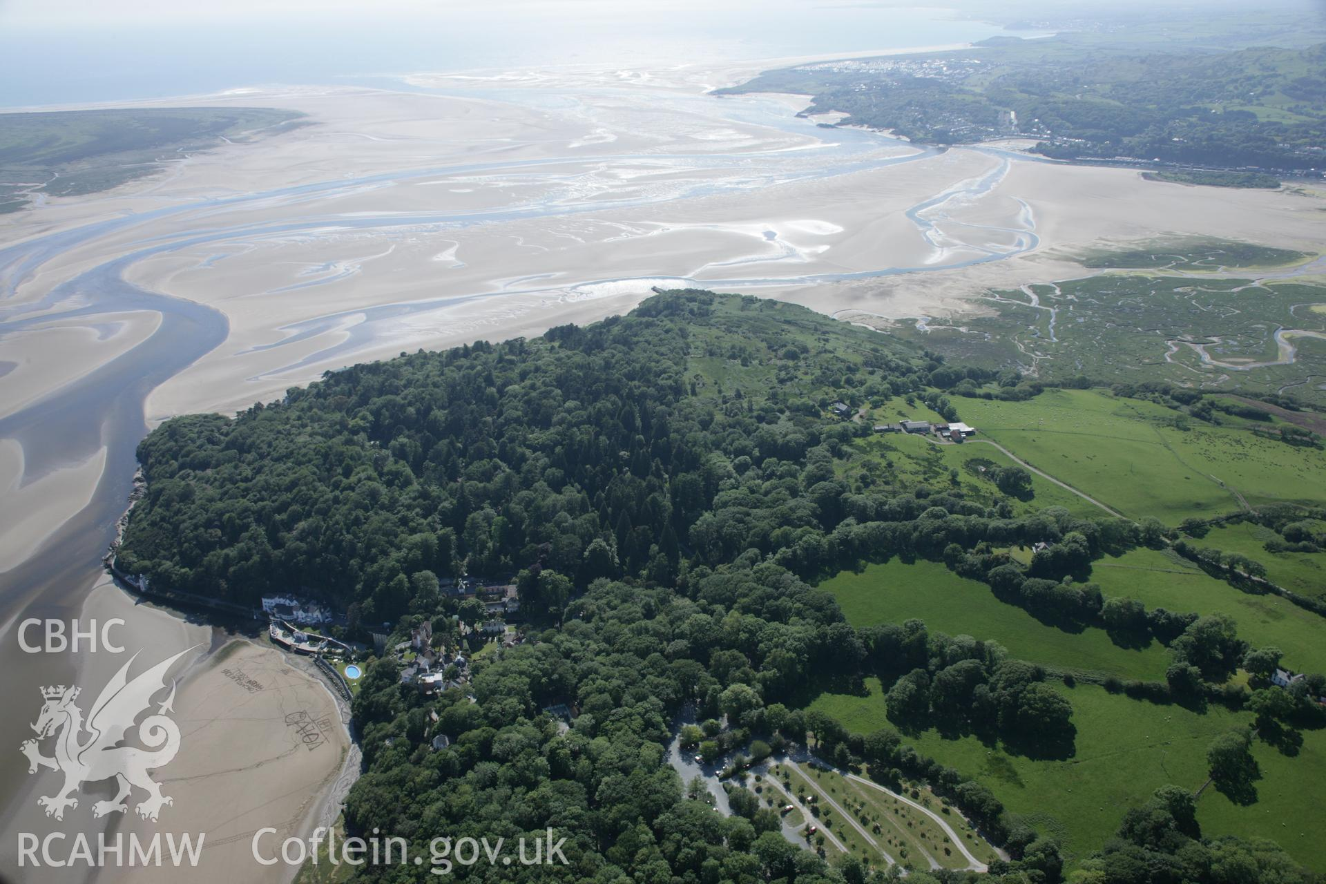 RCAHMW digital colour oblique photograph of Portmeirion viewed from the east. Taken on 08/06/2005 by T.G. Driver.
