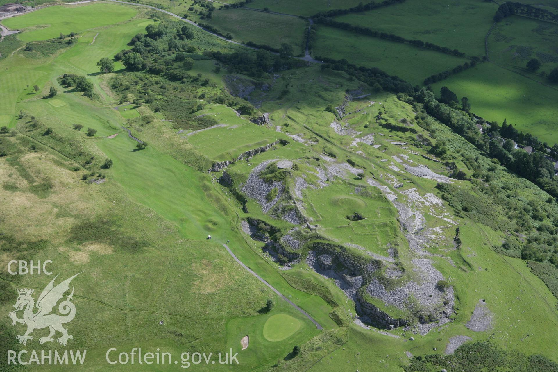 RCAHMW colour oblique aerial photograph of Morlais Castle. Taken on 30 July 2007 by Toby Driver