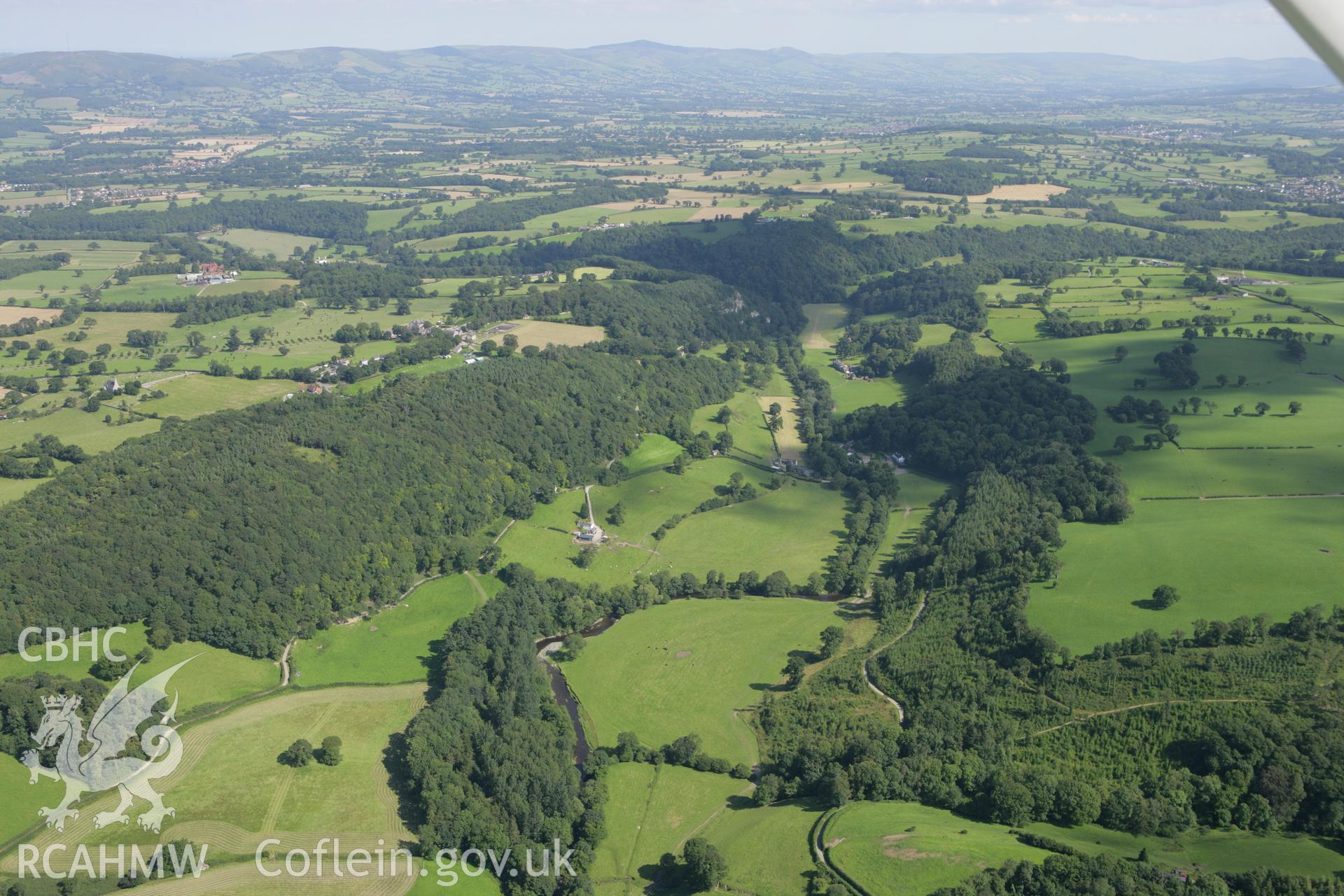 RCAHMW colour oblique aerial photograph of Pontnewydd Cave and surrounding landscape. Taken on 31 July 2007 by Toby Driver