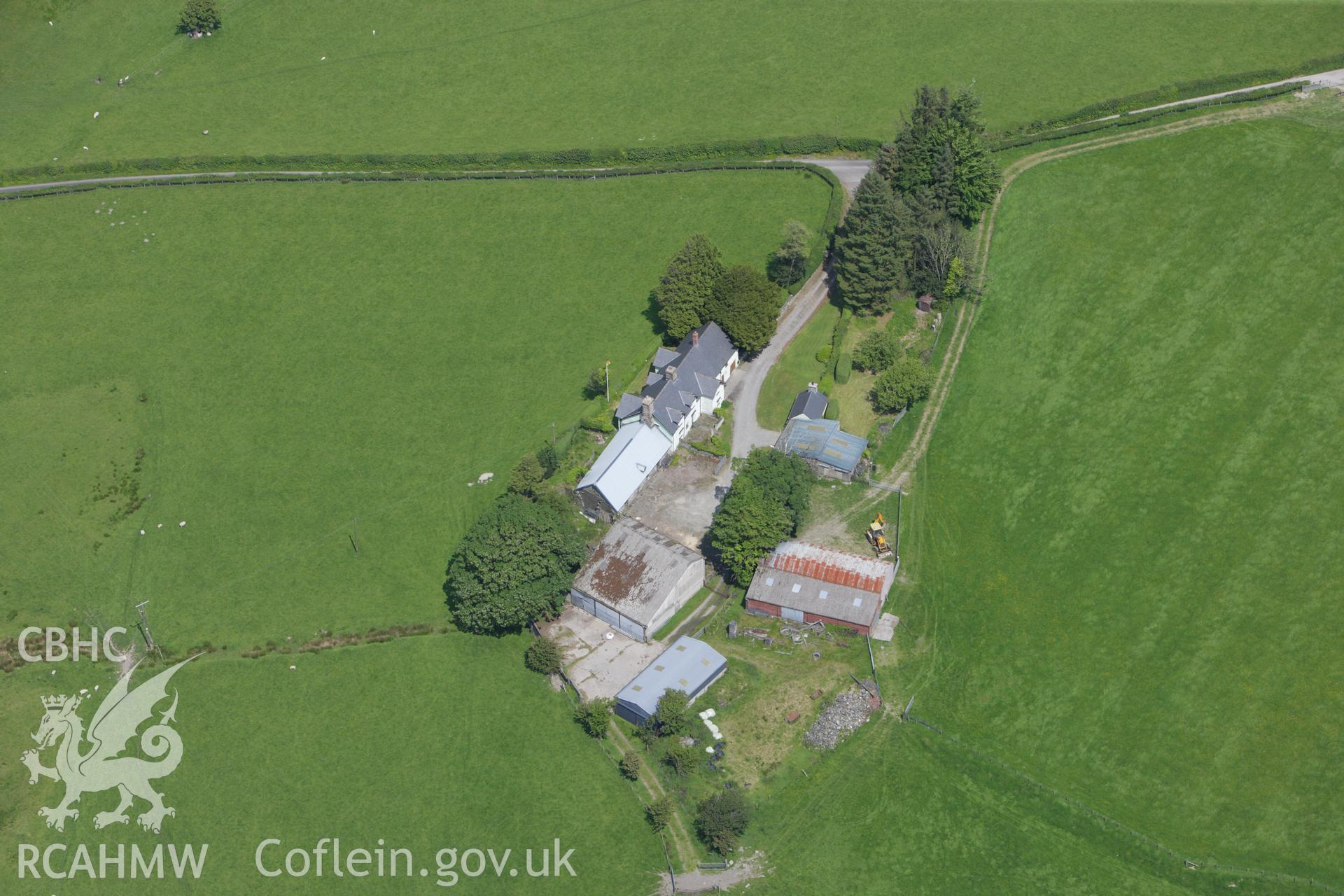 RCAHMW colour oblique aerial photograph of Cefn Caer Roman Fort, Pennal. Taken on 02 June 2009 by Toby Driver